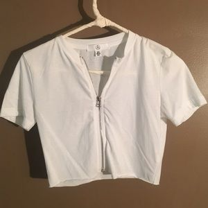 Misguided white crop top 2